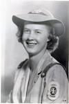 Portrait of Lois Armstrong Pritt in Cadet Nurse Corps uniform
