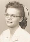 Lauretta Vandock's portrait in hospital uniform
