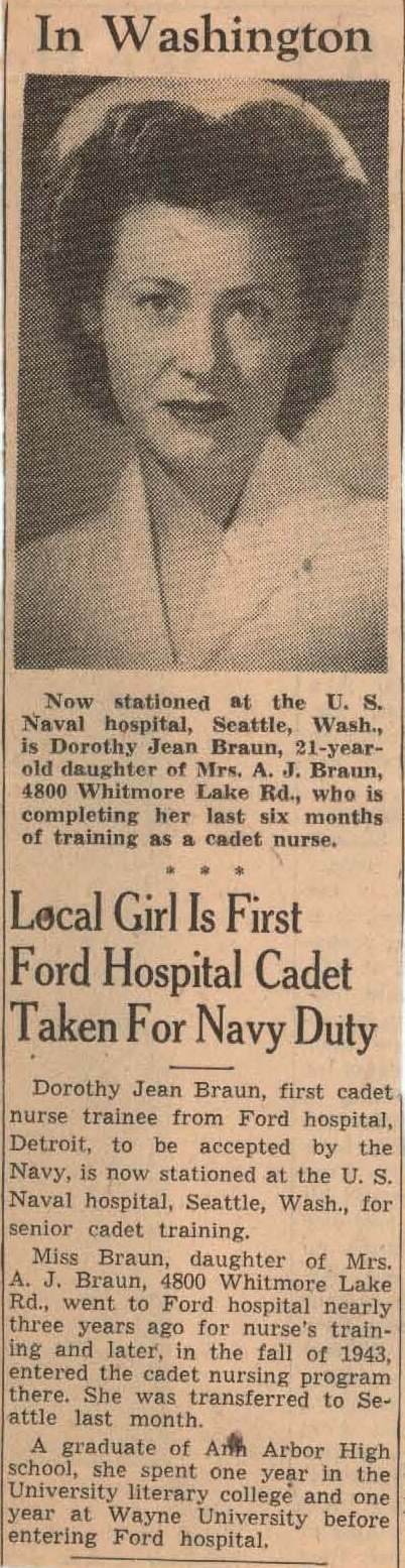 Newspaper clipping about Dorothy J. Braun (Turner)